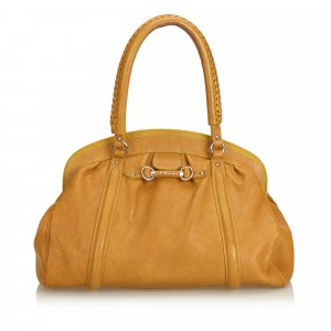 Dior Bamboo Leather Shoulder Bag
