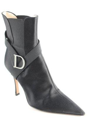 Dior Booties schwarz-silberfarben Elegant