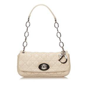 Dior Shoulder Bag beige leather