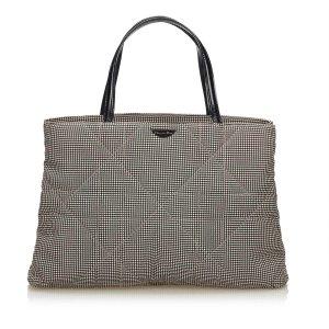Dior Cannage Houndstooth Handbag