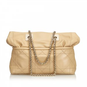 Dior Cannage Leather Chain Shoulder Bag