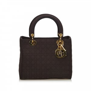 Dior Cannage Nylon Lady Dior Handbag