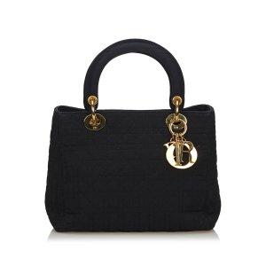 Dior Cannage Nylon Lady Dior Handbag