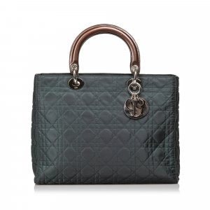 Dior Cannage Nylon Lady Dior Satchel
