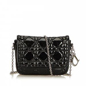 Dior Cannage Patent Leather Crossbody Bag