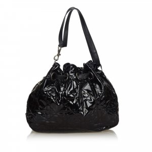 Dior Cannage Patent Leather Tote Bag