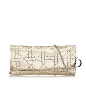 Dior Cannage Satin Clutch Bag