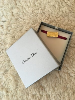 Dior Choker Kette, mit Satin-Band und Goldplättchen