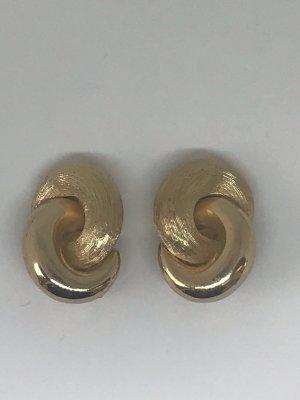 Dior Clipse Ohrringe gold vintage