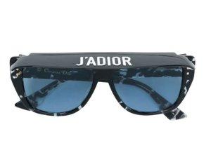 Dior Occhiale da sole ovale nero-blu acciaio