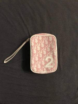 Christian Dior Borsa clutch rosa chiaro-bianco