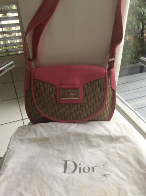 Christian Dior Borsa a spalla multicolore Lino
