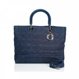 Dior Denim Lady Dior Satchel