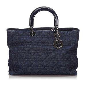 Dior Denim Lady Dior Tote Bag