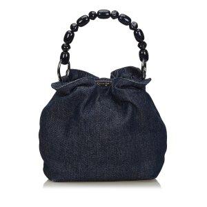 Dior Handbag blue cotton