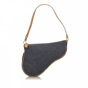 Dior Denim Mini Saddle Baguette