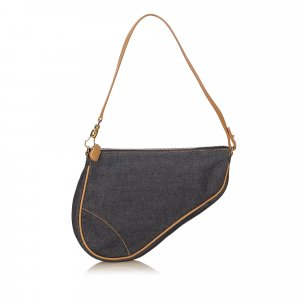 Dior Denim Saddle Handbag
