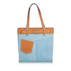 Dior Borsa larga blu Cotone