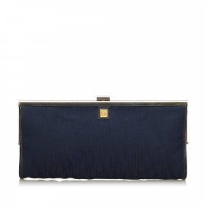 Dior Dior Oblique Canvas Clutch Bag