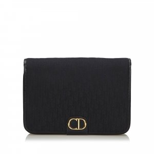 Dior Dior Oblique Canvas Clutch Bag