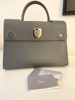 Dior Diorever Handtasche Grau Medium Neuwertig