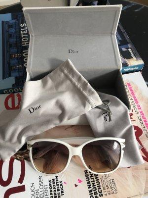 Christian Dior Occhiale da sole ovale oro-bianco