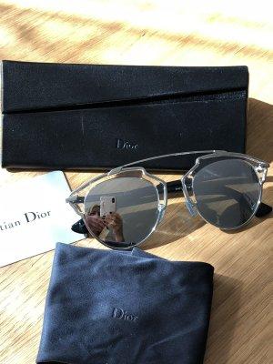 DIOR DiorSoReal Sonnenbrille Silber/Kristall - wie neu