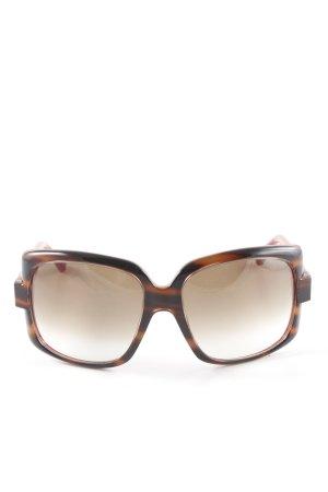 Dior eckige Sonnenbrille braun-dunkelbraun Tortoisemuster Street-Fashion-Look