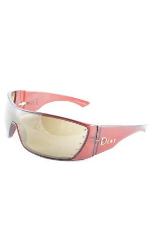 Dior Gafas de sol cuadradas rojo amarronado-color oro Patrón de estrellas