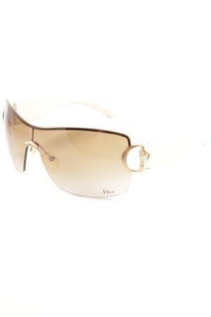 Dior Occhiale da sole spigoloso oro elegante