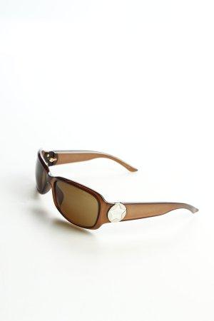 Dior eckige Sonnenbrille hellbraun schlichter Stil