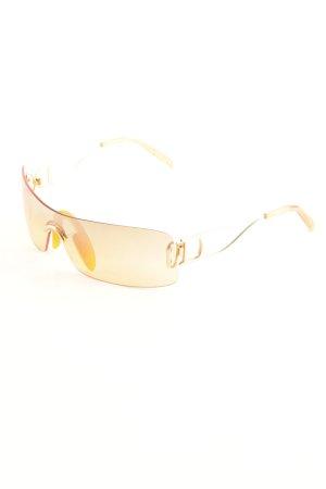 Dior Occhiale da sole spigoloso arancione-oro stile stravagante