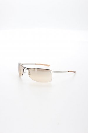 Dior eckige Sonnenbrille silberfarben-rosé sportlicher Stil