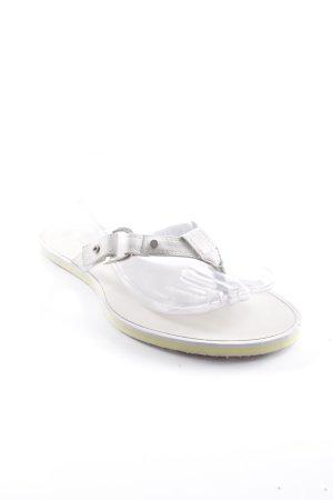 Dior Flip Flop Sandalen wollweiß Beach-Look