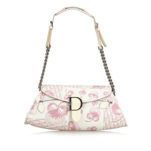 Dior Floral Canvas Baguette
