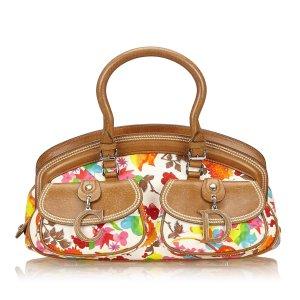 Dior Floral Canvas Handbag
