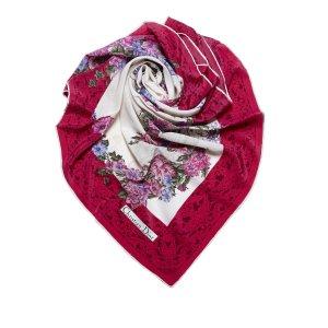 Dior Écharpe rouge soie