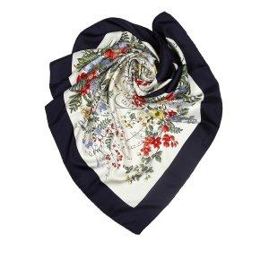Dior Floral Print Silk Scarf