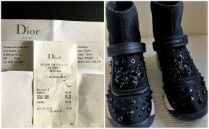 Dior Fusion high-end sneakers iSchwarz/Pink mit Rechnung+Id.Karte