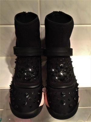 Christian Dior Sneaker nero-rosa chiaro Tessuto misto