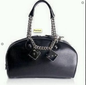Christian Dior Bowling Bag black-silver-colored leather