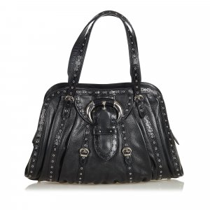 Dior Grommet Leather Shoulder Bag