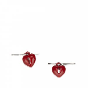 Dior Heart Keyhole Drop Earrings