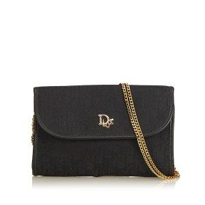 Dior Honeycomb Canvas Chain Shoulder Bag