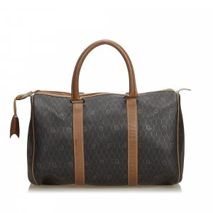 Dior Honeycomb Coated Canvas Boston Bag