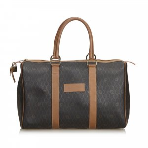 Dior Honeycomb Coated Canvas Boston Bag