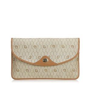 Dior Honeycomb Coated Canvas Clutch Bag