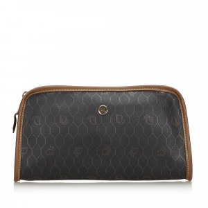 Dior Honeycomb Coated Canvas Clutch Bag
