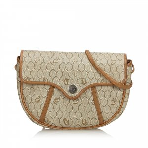 Dior Honeycomb Coated Canvas Crossbody Bag
