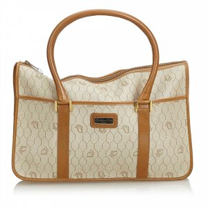 Dior Honeycomb Coated Canvas Handbag